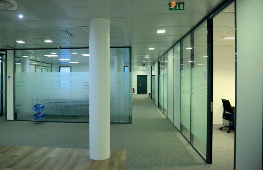 travaux d'aménagement invivo Courbevoie bureau
